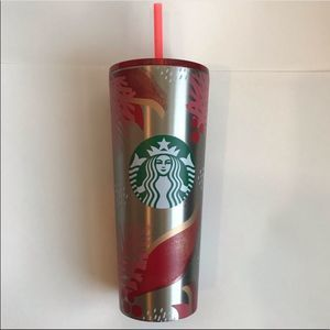 Starbucks Limited Edition Xmas 2019 Metal Cold Cup